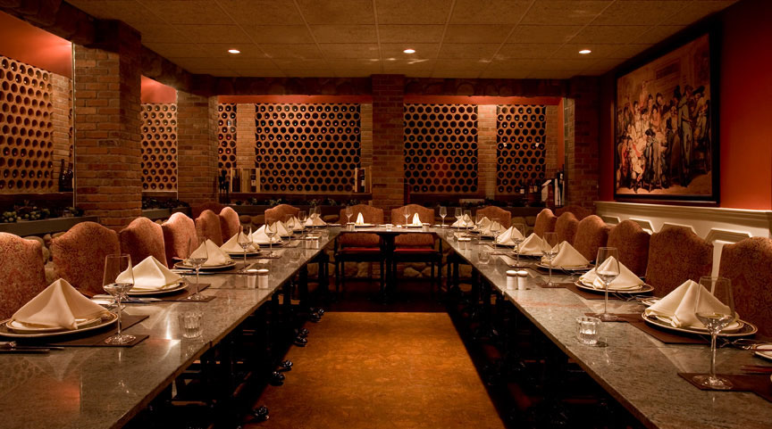 Wine cellar 7 the brick house for Best private dining rooms nj